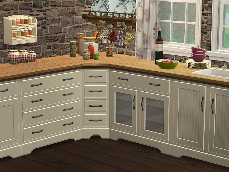 Country Küche | Sims ❤ | Landhausküche, Sims 4 cc möbel und ...