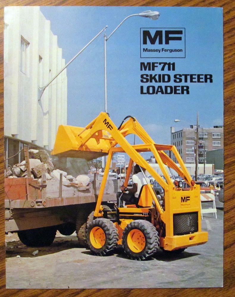 1974 Massey Ferguson MF711 Skid Steer Loader Skid steer