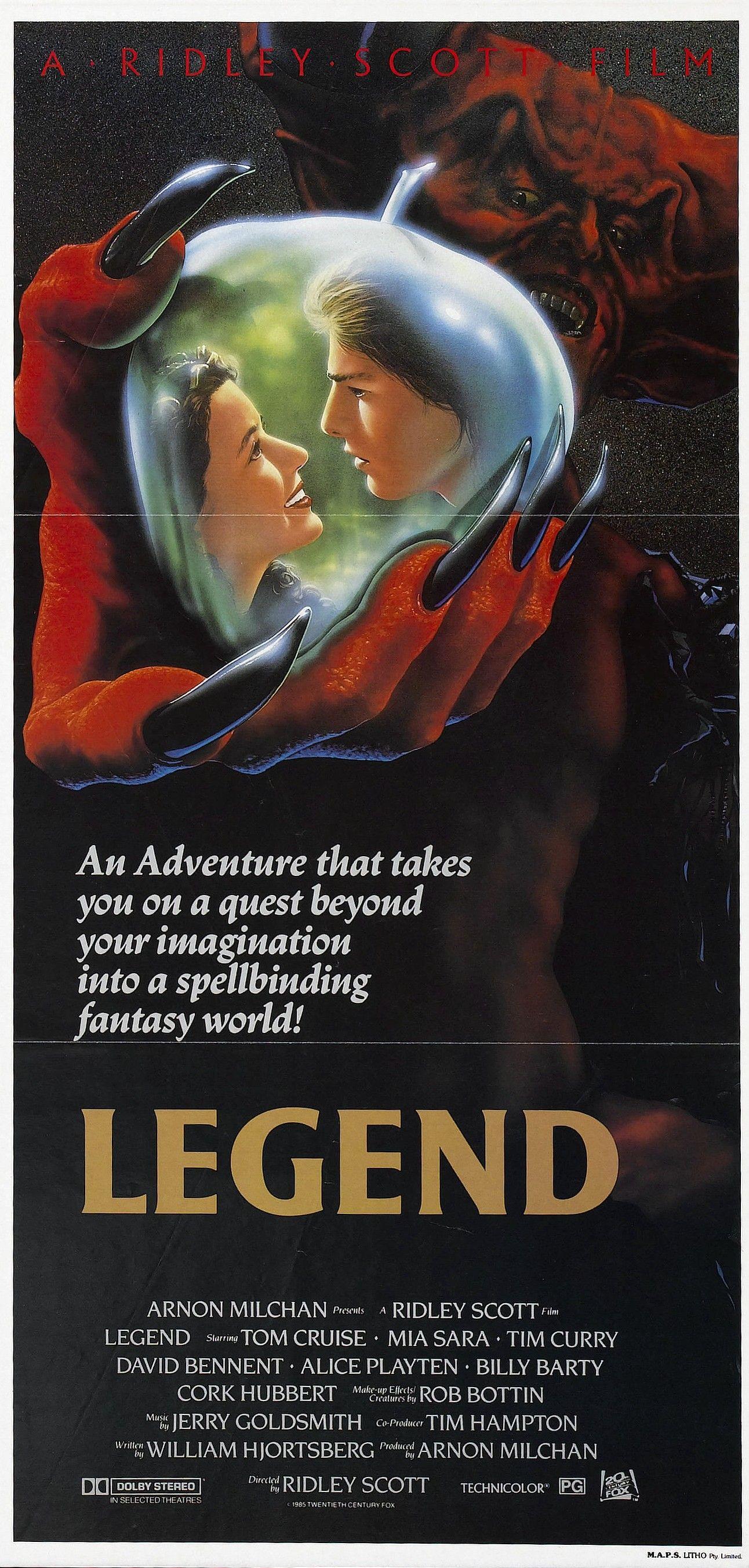 Legend 1985 Filmaffinity Creepy Movies Ridley Scott Tom Cruise