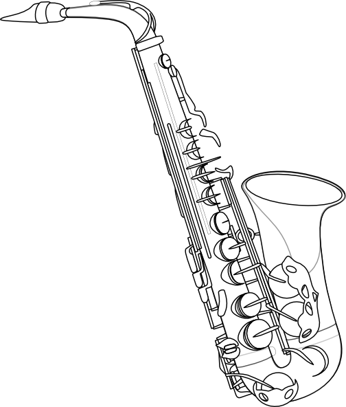 57b7bcbed Image for Saxophone Drawing | drawings & art | Saxophone, Musical ...