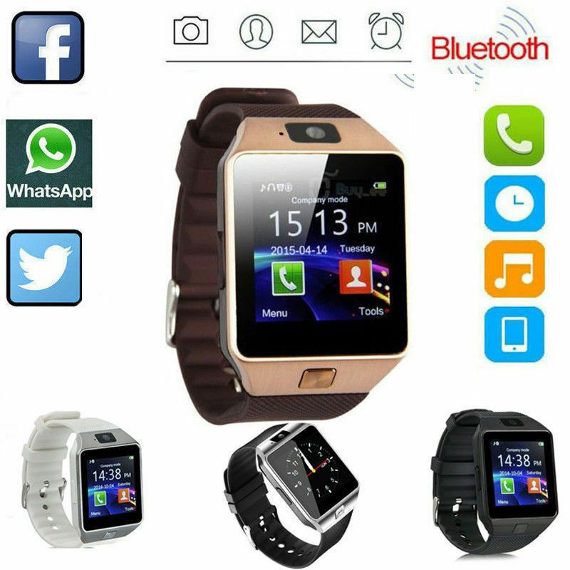 Wristwatches Cell Phones & Accessories Bluetooth Smart Watch W/camera Waterproof Phone Mate For Android Samsung Iphone