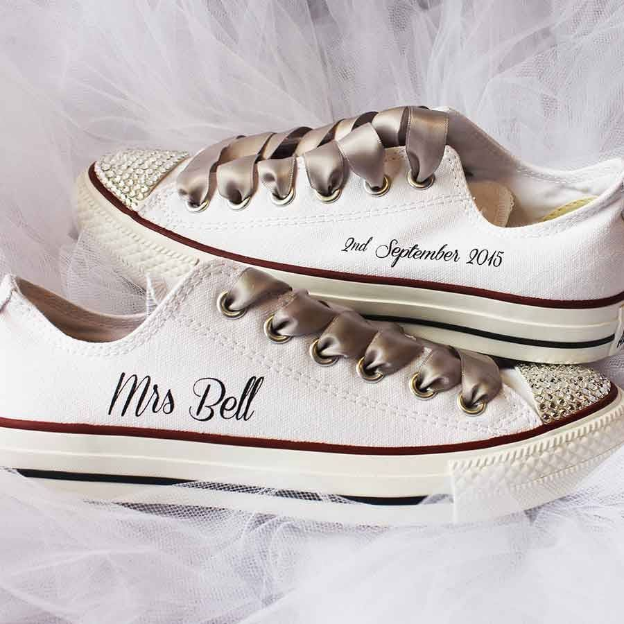 3bfd089fc04d3b Stunning customised Wedding Converse for your perfect day!When it comes to  custom wedding Converse we do it best. We are delighted to be partnered with  the ...