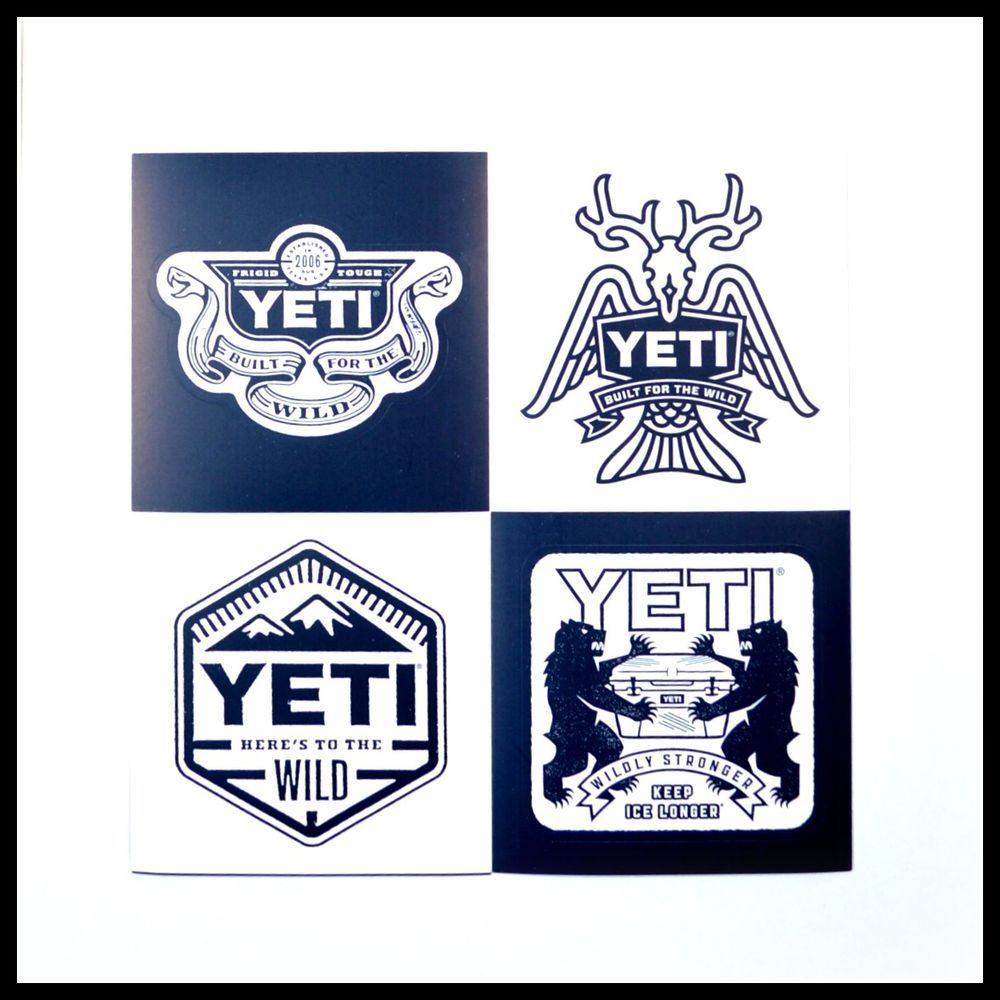 Authentic yeti logo decals stickers coolers ramblers lot of 4 authentic yeti logo decals stickers coolers ramblers lot of 4 yeticoolers buycottarizona Image collections