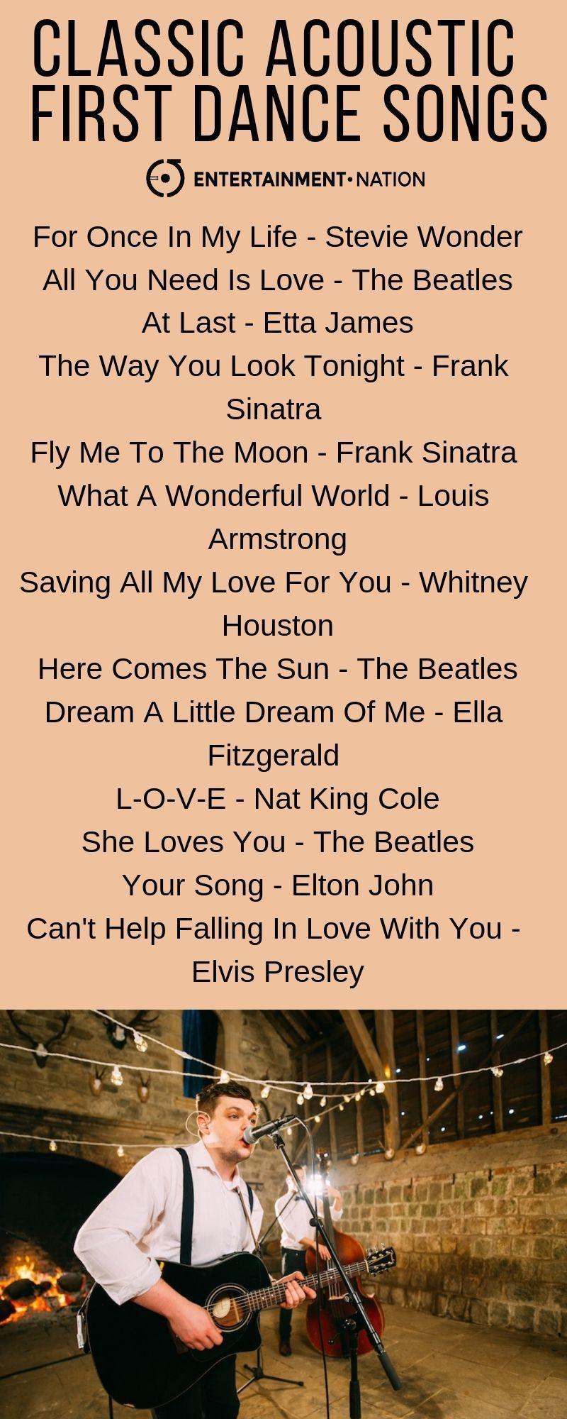 firstdancesongs in 2020 First dance wedding songs