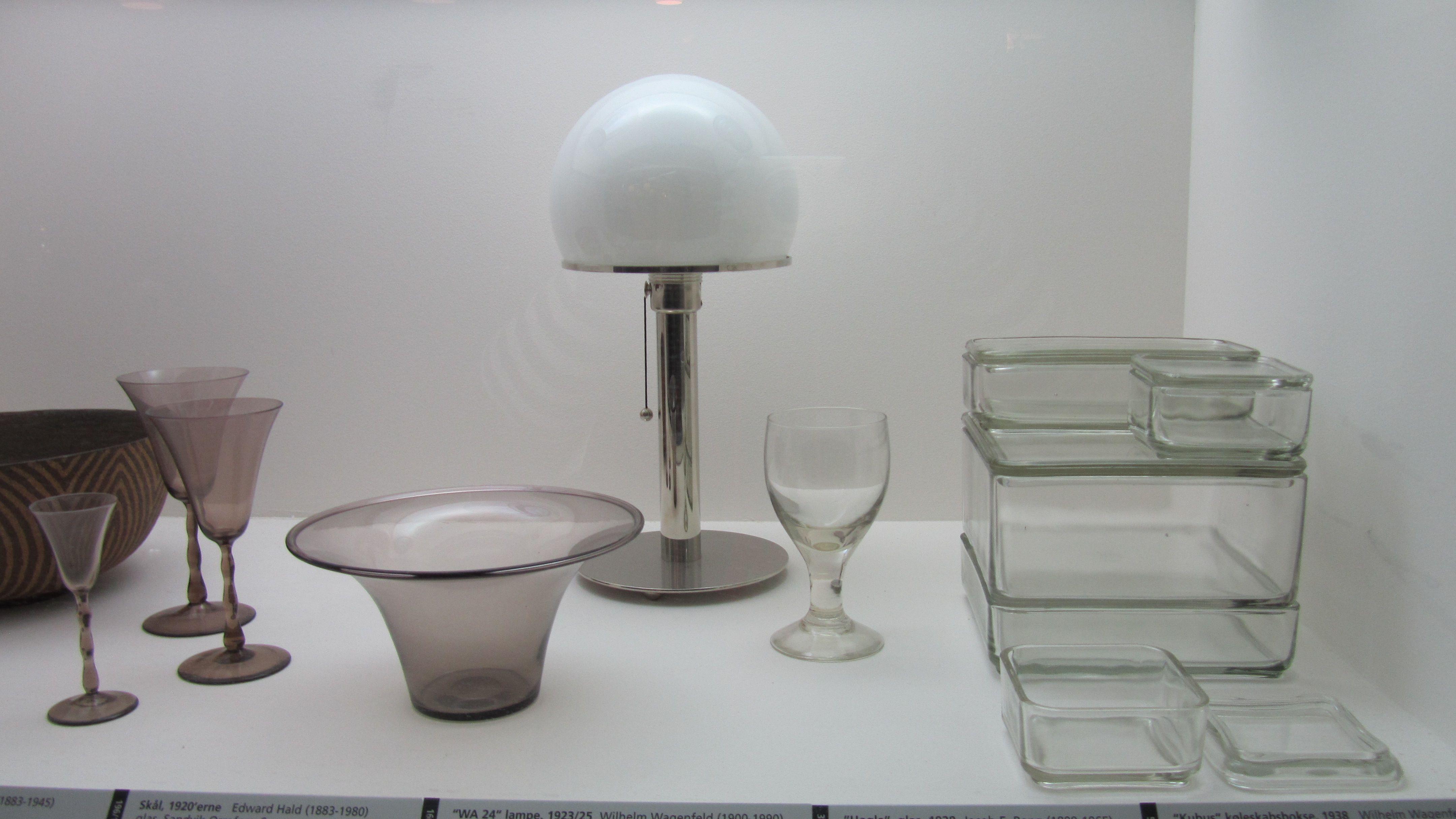 The works of German Bauhausdesigner Wilhelm Wagenfeld