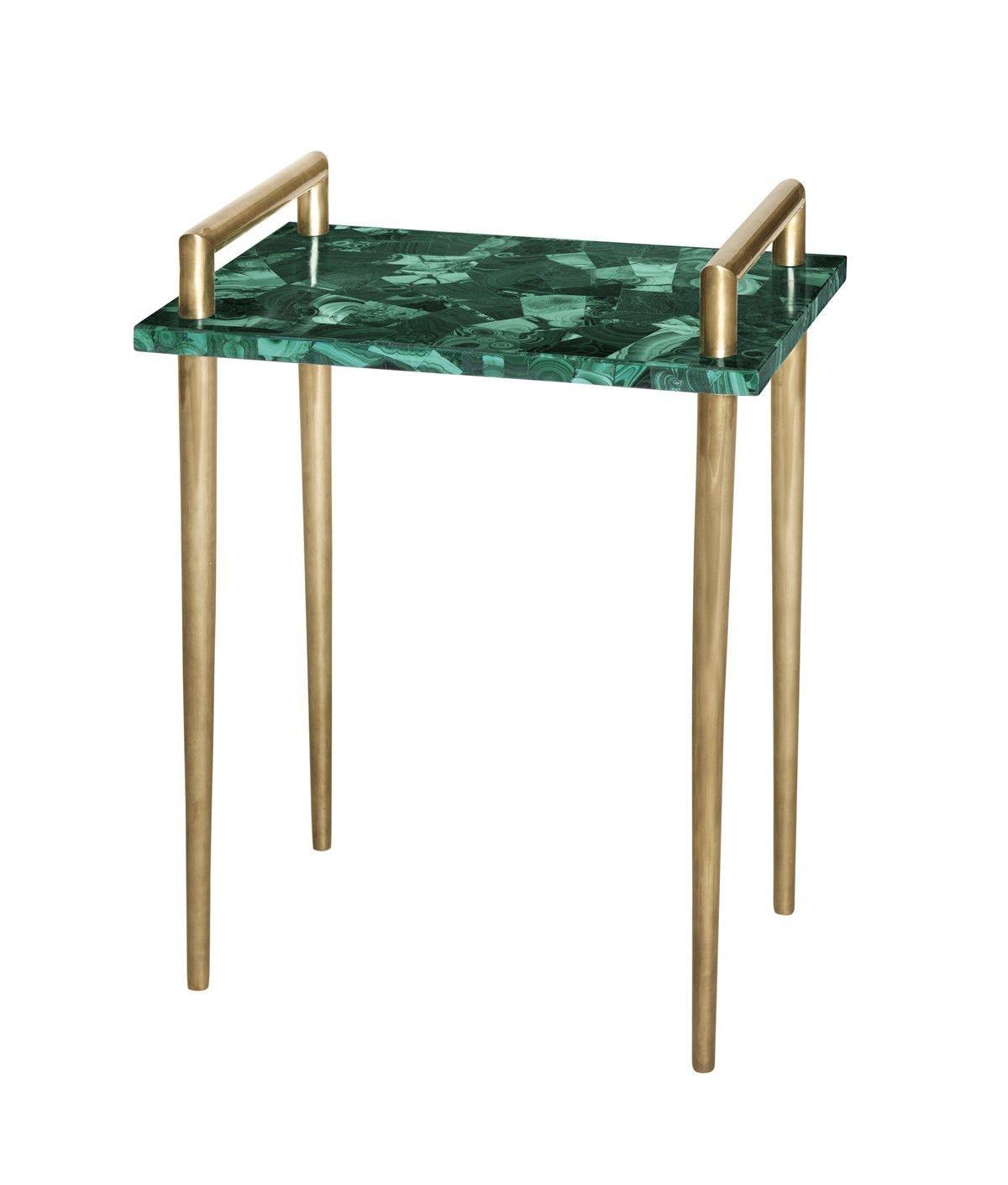 Malachite Handlebar Table