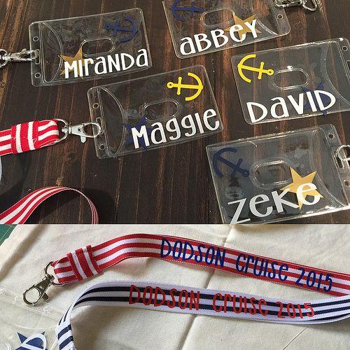 Cruise Lanyard and ID holder for my peeps❤️. #dodsoncruise