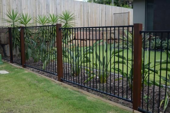 Timber And Aluminium Modern Front Yard Fence Design Front Yard Fence