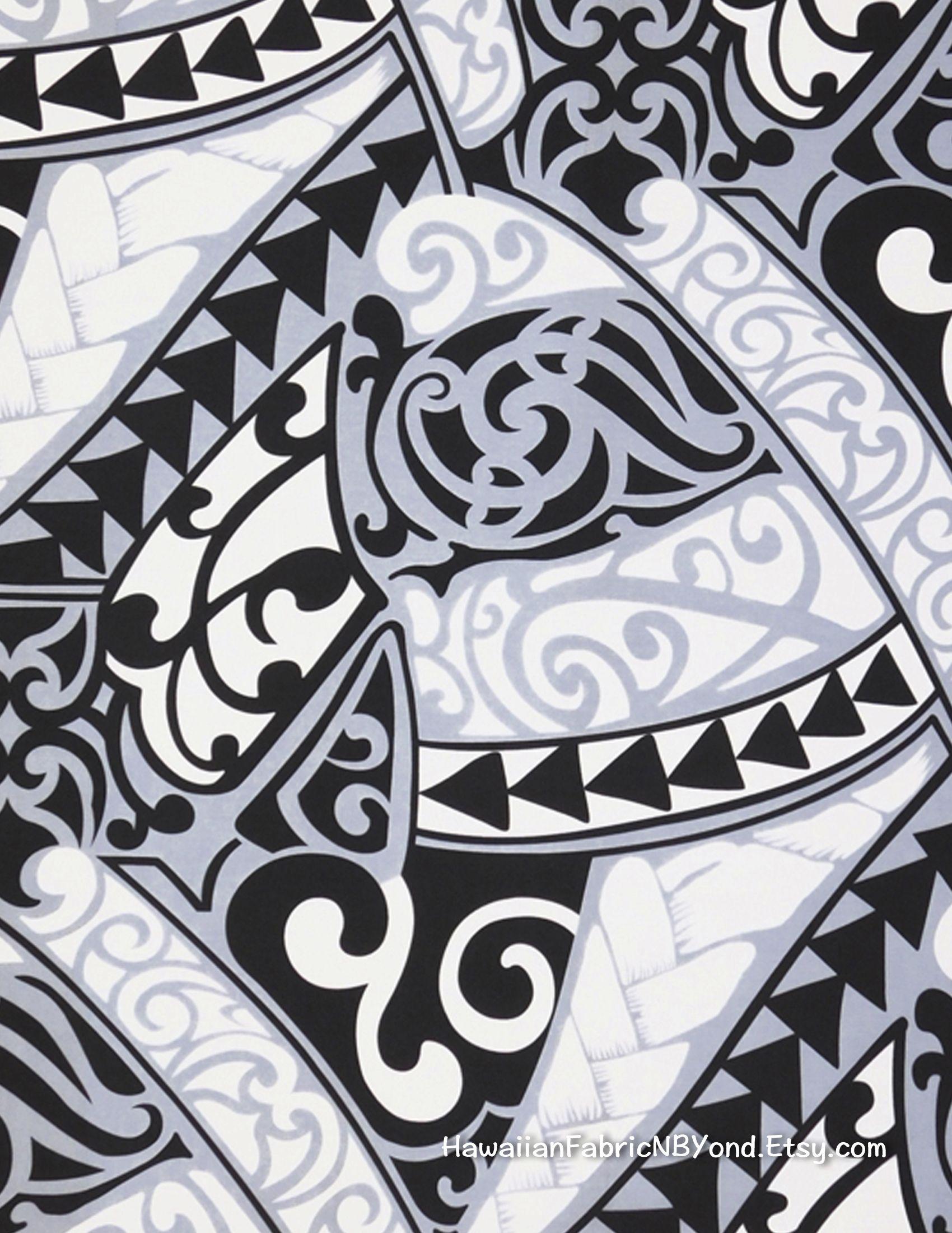 Fabric Polynesian tribal tattoo fabric Lavalava Aloha shits fabric