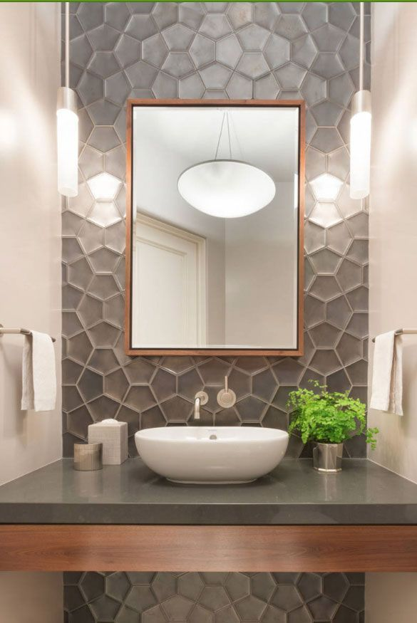 59 phänomenale Powder Room Ideen & Half Bath Designs - Wohnaccessoires Blog #remodelingorroomdesign