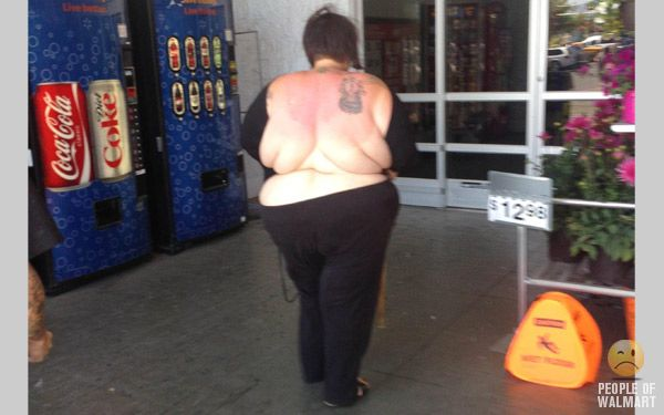 People of walmart back boobs