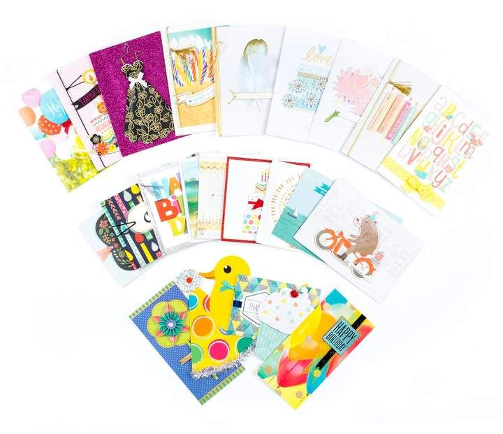 24 Count All Occasion Handmade Boxed Assorted Greeting Cards Set Sealsstoragebox