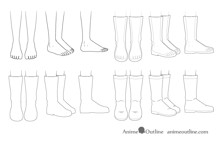 How To Draw Anime Shoes Step By Step Animeoutline Anime Drawings Shoe Step Drawings