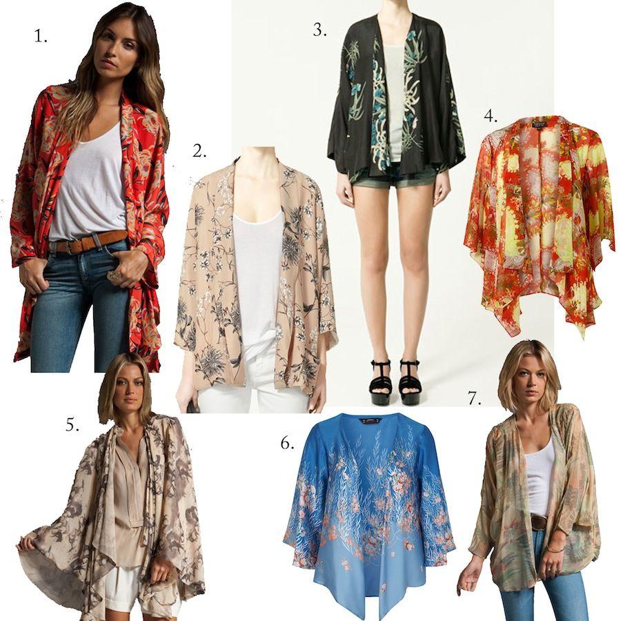how to wear a kimono jacket pinterest
