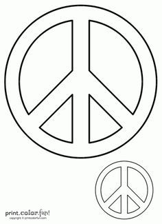 free kids stencils to print peace sign print color fun free