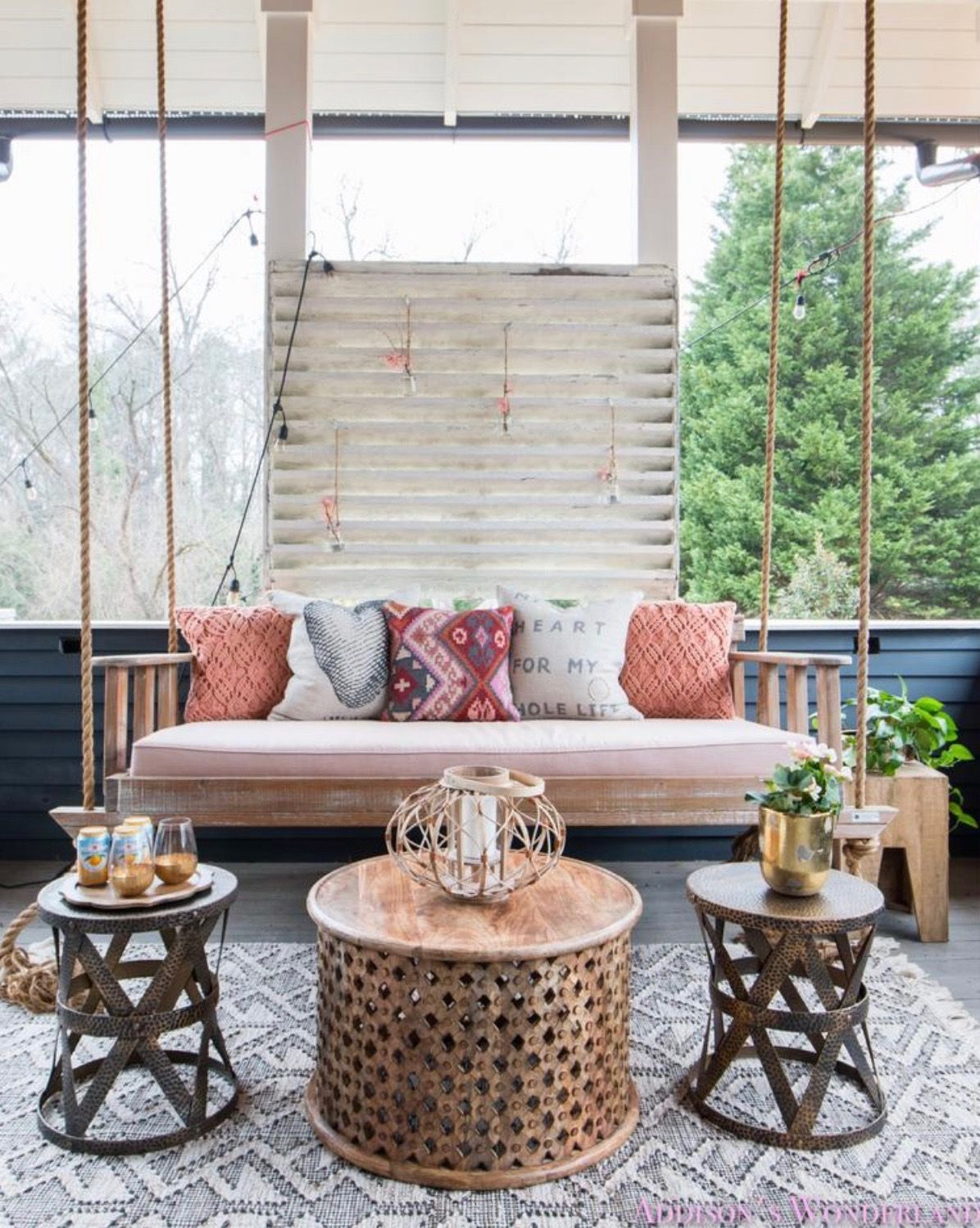 Pin by LACIE☆ on Back Yard Hanging daybed, Porch swing