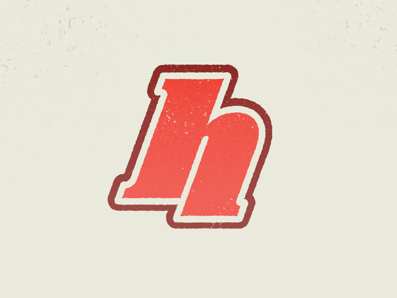 Im currently working on an app at @Intrepid Pursuits that involves athletics, and all i can think about when doing letters are old school sports logos - you know, really fat, rounded, faded, a litt...