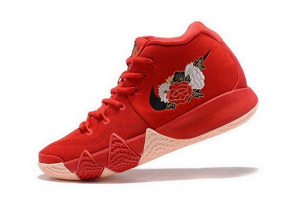 05c10252e6d5 Mens Nike Kyrie 4 CNY University Red Black-Team Red Basketball Shoes  943807-600