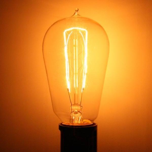 Bulbrite 134018 40 Watt 120 Volt Hairpin Filament Medium Screw Base 1890 Nos40 1890 Antique Light Bulbs Bulb Edison Light Bulbs