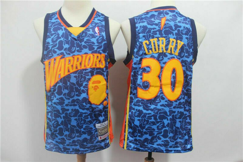 detailed look a2c41 b130b Brand NEW Golden State Warriors #30 Stephen Curry Basketball ...