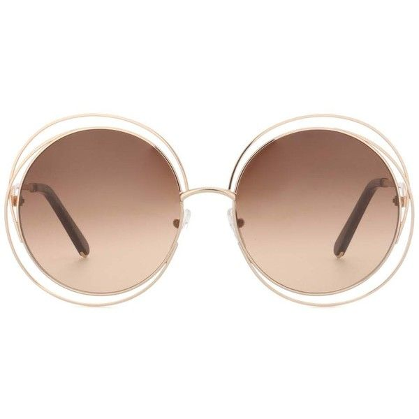 363d5f766265c Chloé Carlina Round Sunglasses ( 335) ❤ liked on Polyvore featuring  accessories