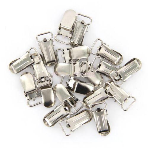 20 PCS Metal Suspender Pacifier Holder Mitten Clips Silver Tone Ring Length 11mm | eBay