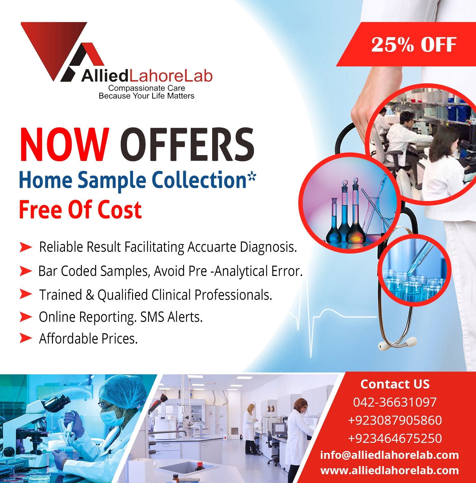 Discount offer on allied lahore lab diagnostic service