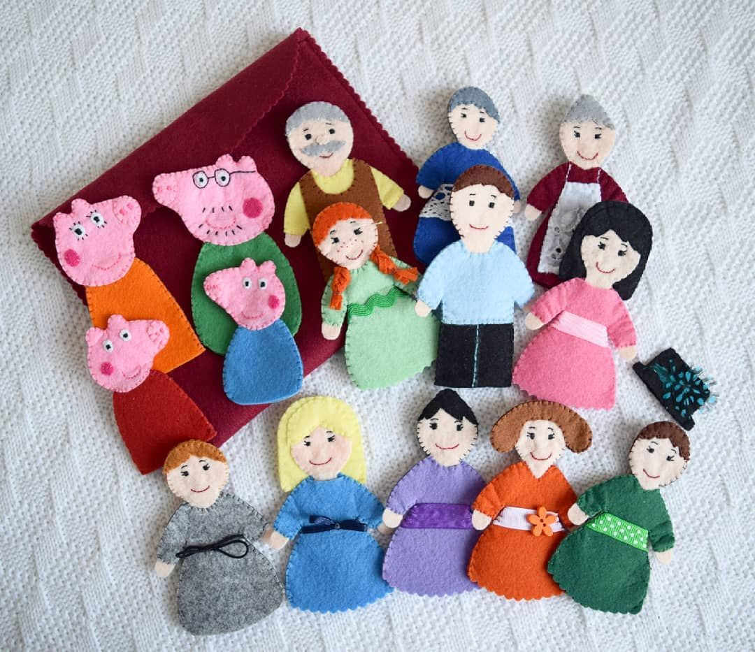 Very Big Order Of Finger Puppets Pig And Her Family Anne Of