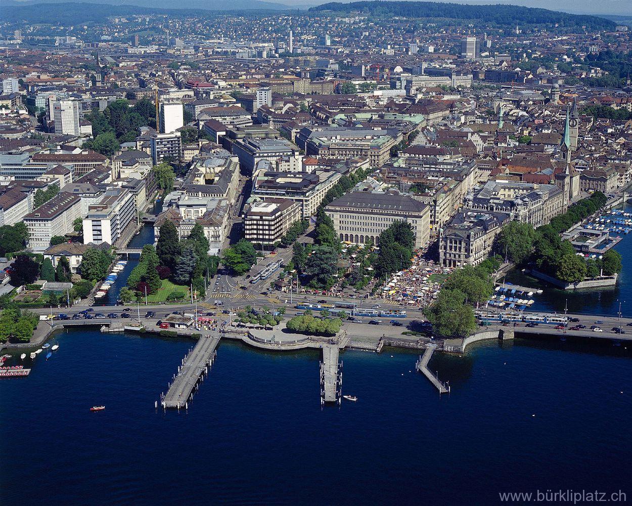 Banking District Zurich Zurich Outdoor River