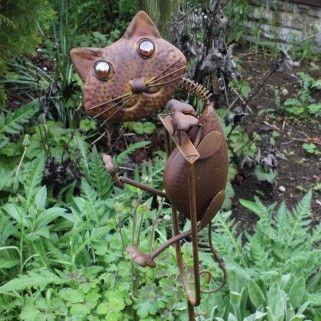 Rocking Metal Cat Garden Ornament £23.99