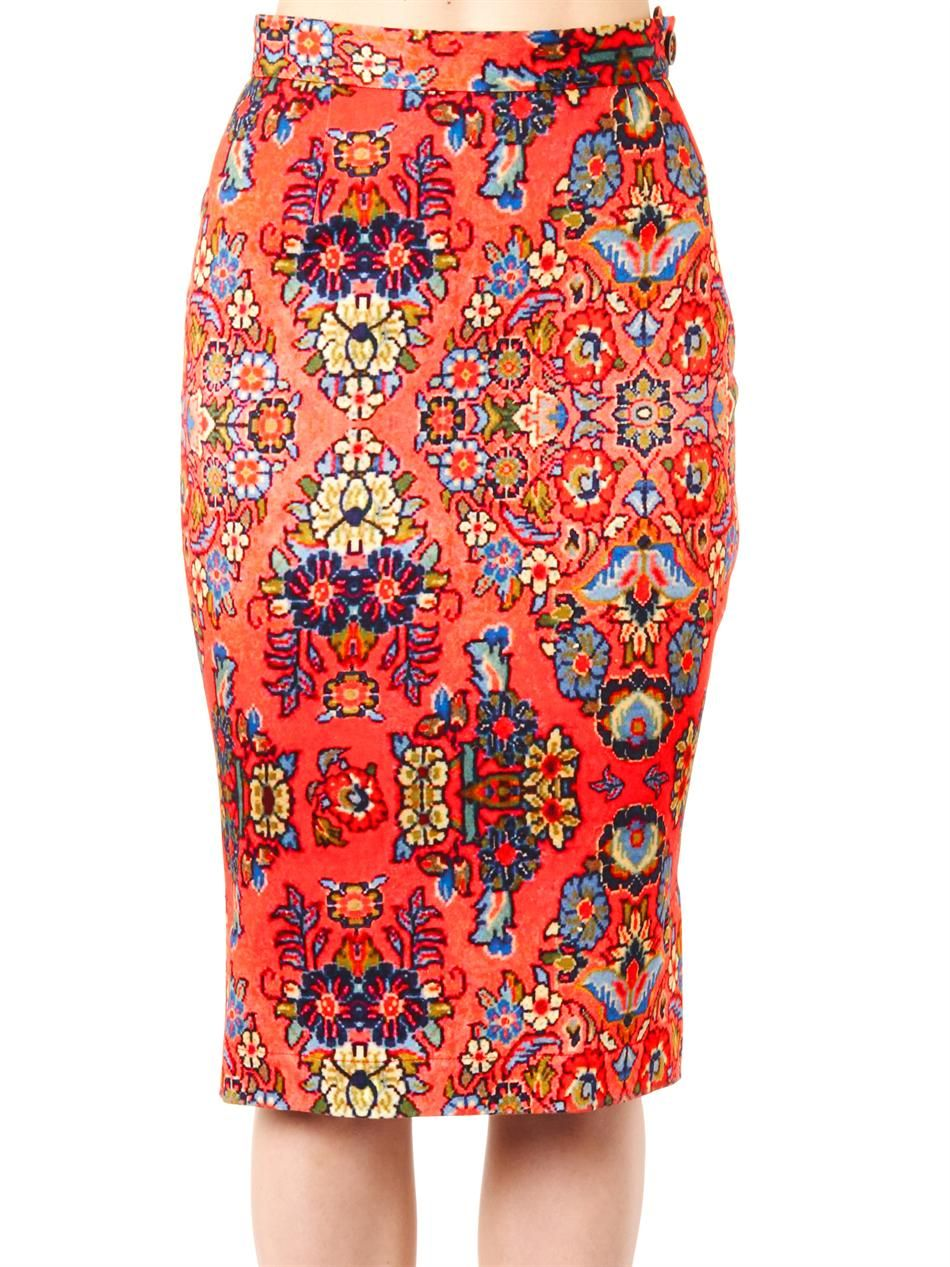 Vivienne Westwood Anglomania Dynasty-print pencil skirt