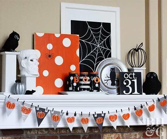 Easy Halloween Mantel Ideas Halloween Pinterest Halloween