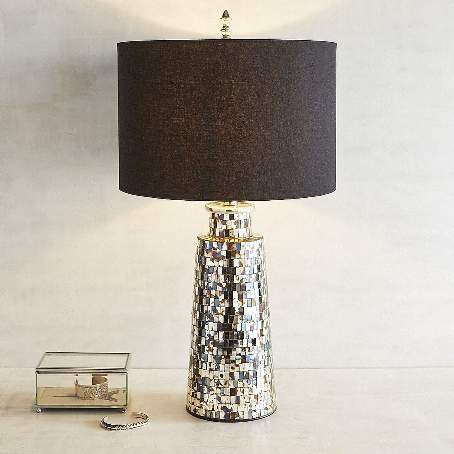 mix lamp table vintage mosaic furniture