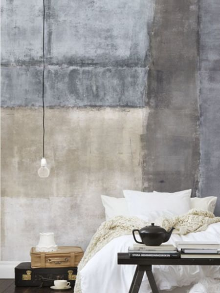 Scandinavian wallpaper & decor - I love how this makes me feel peaceful just beholding!