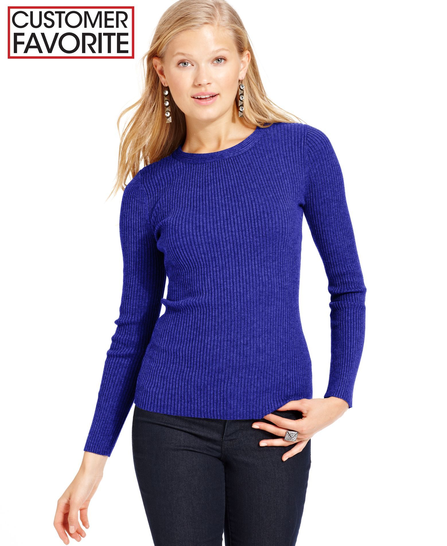 It's Our Time Juniors' Long Sleeve Ribbed Sweater | Products ...