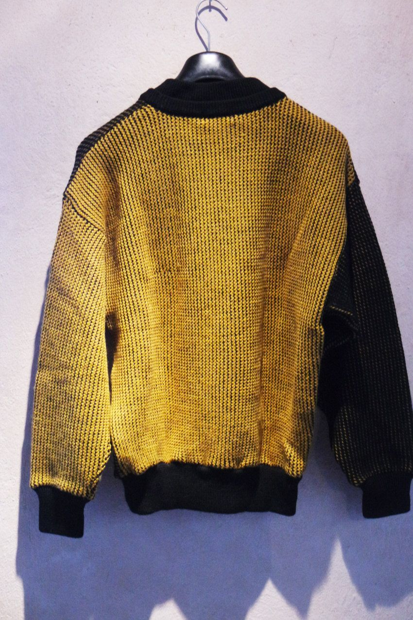 2732b1064b9 Rare Vintage 80s Kansai Yamamoto Embroidery Parrot Knit Sweater Made ...