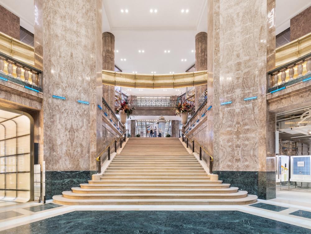 Big Completes Galeries Lafayette Store On Champs Elysees In Paris Art Deco Buildings Paris Interiors Champs Elysees
