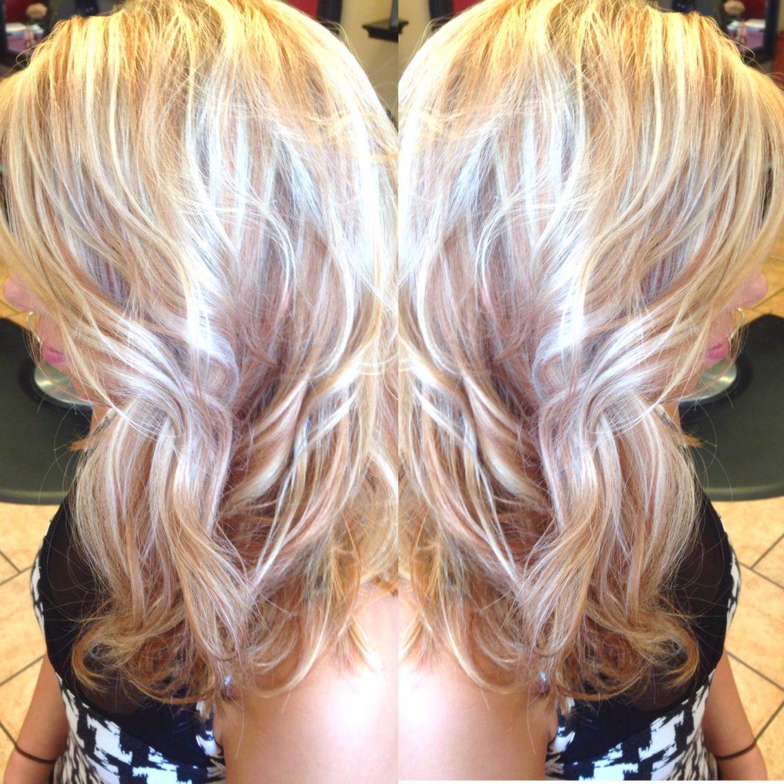 Platinum Blonde With Copper Lowlights Platinum Blonde Hair
