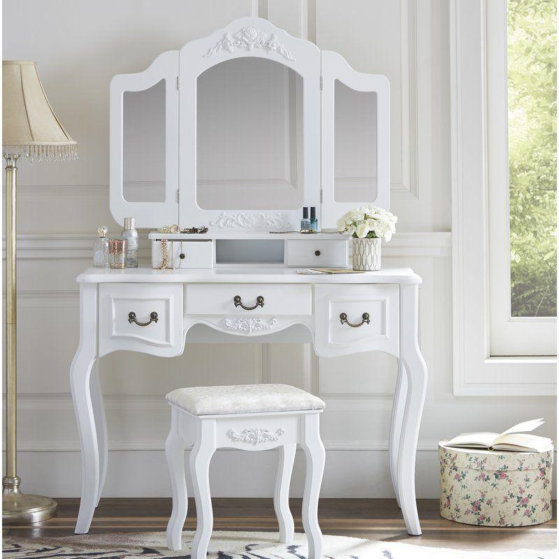 benson vanity set with mirror  mirror bedroom decor