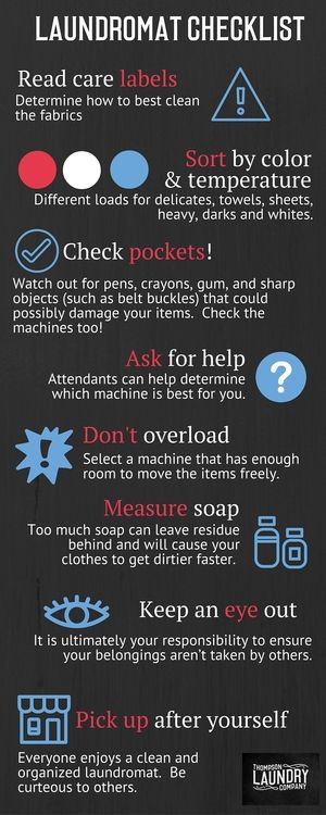 Laundromat Checklist With Images Laundry Shop Laundry
