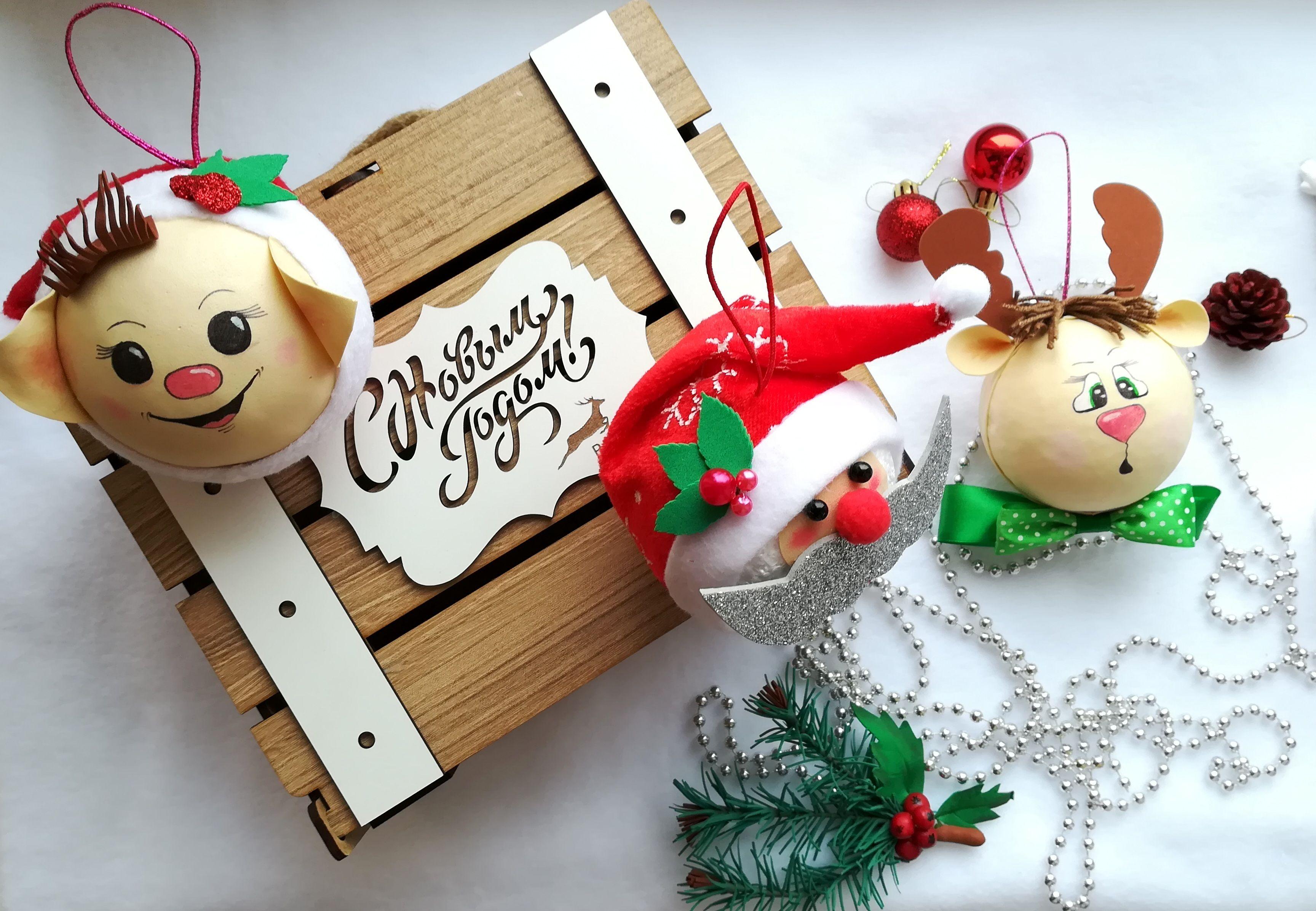 Дед мороз снеговик олень своими руками фото 578