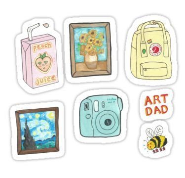 image about Aesthetic Stickers Printable called artsy sticker pack Sticker Items within 2019 Lovely