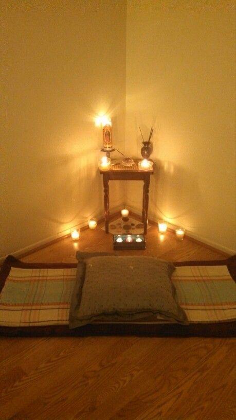 Rincon de meditaci n ideas casa en 2019 espacio de - Hacer meditacion en casa ...