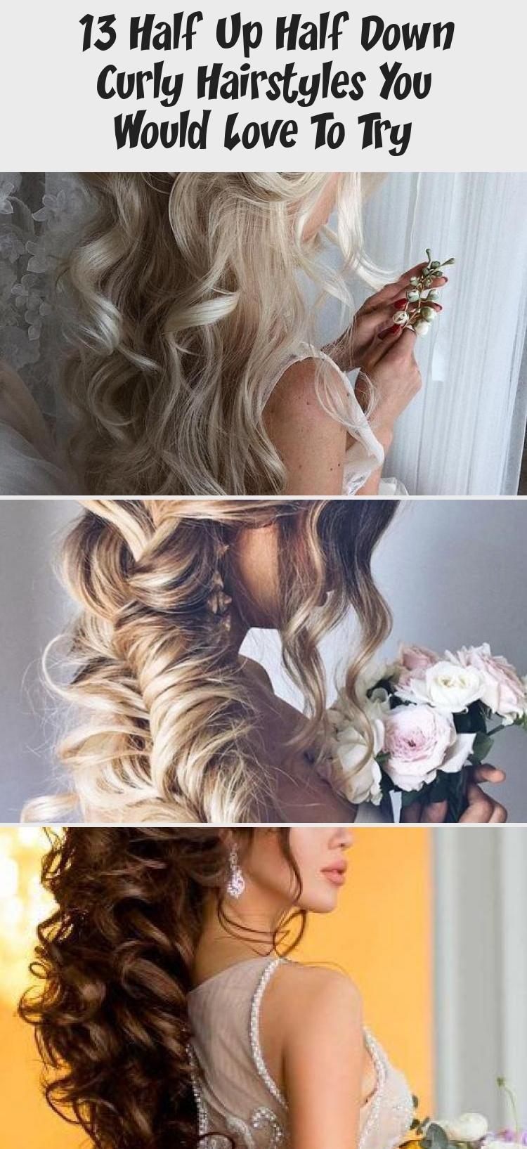13 Half Up Half Down Lockige Frisuren, die Sie gerne ausprobieren würden – Schönheit