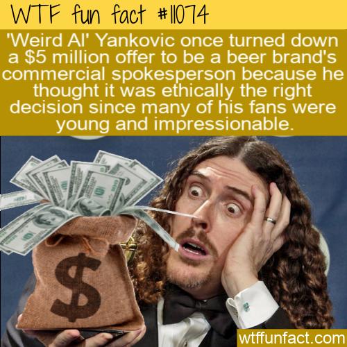 WTF Fun Fact - Weird Al Beer Money