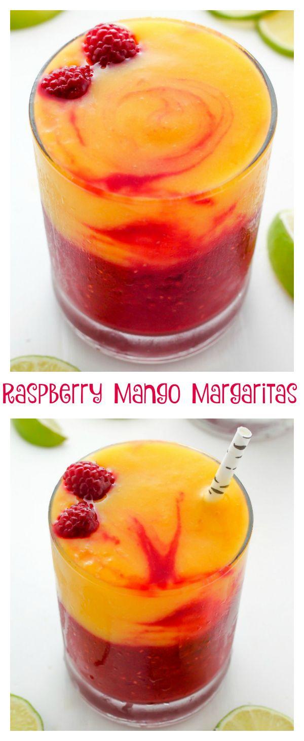 Raspberry Mango Margaritas - Baker by Nature