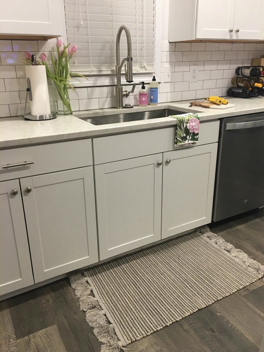 White Kitchen - Quartz Countertops - Subway Tile | Quartz ...