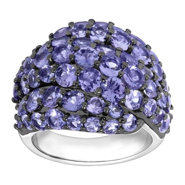 1a426e6a2d3a6 6 1/2 ct Natural Tanzanite Dome Ring in Sterling Silver in 2019 ...