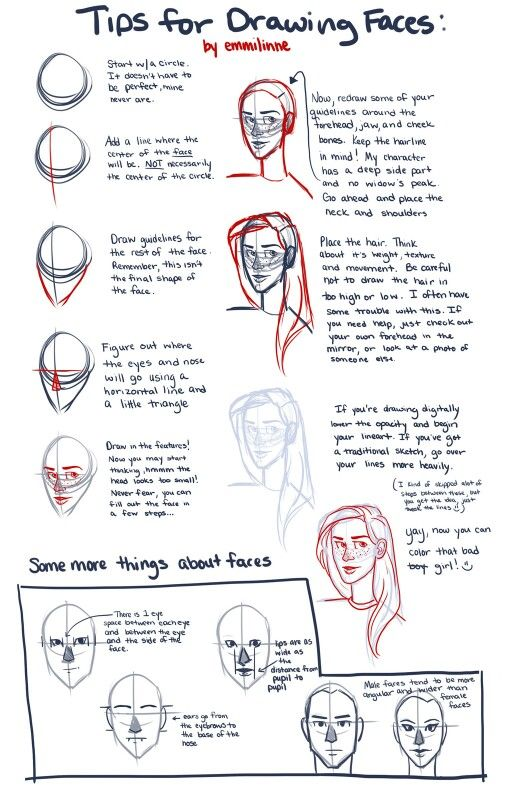 tips for semi realistic faces my drawing stuff pinterest