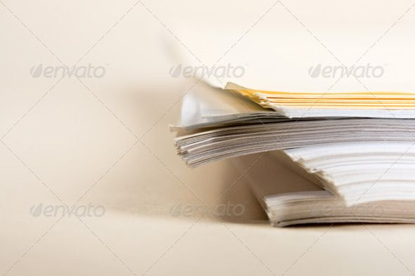 A pile of paper background, blank, bunch, business, closeup - blank paper background